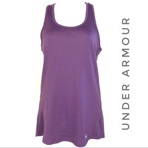 Under Armour Purple Racerback Ribbed Tank Top